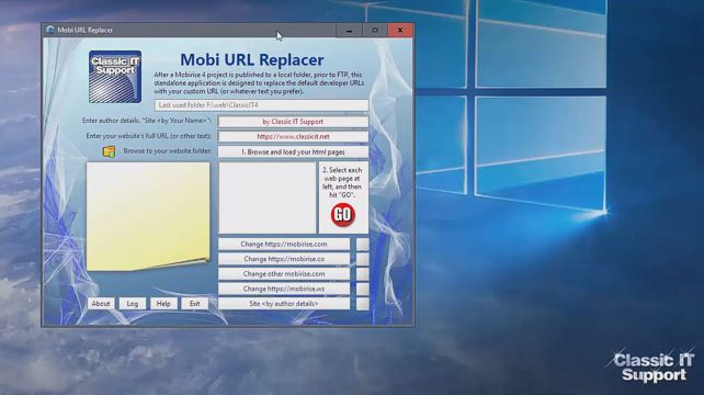 Mobi URL Replacer video tutorial